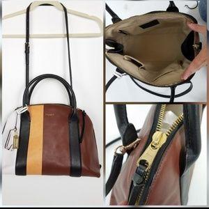Coach Colorblock Striped Shoulder Hand Bag Purse